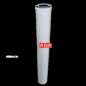 Tryba ydlinenie 80 na 125 plastikovaia koaksialnaja L=1000 dlia kondensacionnih kotlov