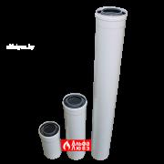Tryba ydlinenie 80 na 125 plastikovaia koaksialnaja L=250 — 500 — 1000 dlia kondensacionnih kotlov