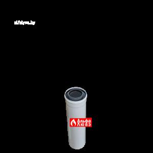 Tryba ydlinenie 80 na 125 plastikovaia koaksialnaja L=500 dlia kondensacionnih kotlov