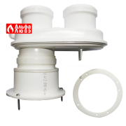 01 Адаптер моноблочный, разделитель каналов, переход с Ø60-100 на Ø80 Ø80 на систему дымоудаления конденсационного котла Bosch, Junkers
