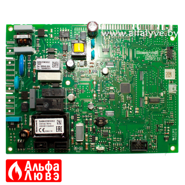 01 Плата управления Honeywell S4962DM3052, Baxi 766487600 на котел Baxi Main5, Quasar E, Eco Compact, Pulsar E