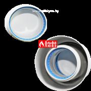 02 Адаптер двухблочный для раздельного дымоудаления DN80 — DN80 алюминий на котел Beretta, Baxi (вид сверху)