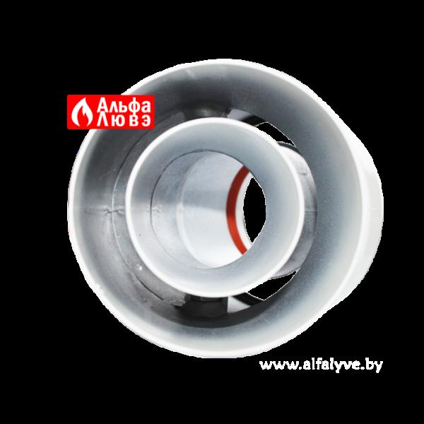03 Колено, поворот, отвод 45° DN 60-100 алюминий для системы дымоудаления традиционного котла
